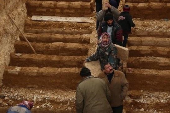 مقابر ذات طبقات في دوما السورية لاستيعاب الجثث!