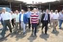 بالصور.. محافظ المنوفية يتفقد موقع مشروع إنشاء نفق للمشاة أسفل خط السكة الحديد ببركة السبع
