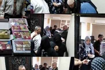 تنفيذا لمبادرة حياة كريمة رئيس حى البساتين يقدم حلوى المولد النبوي لـ 15الف فرد من أهالى الحى