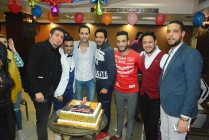 بالصور نجوم الطرب الشعبى يحتفلون بعيد ميلاد محمد سمير