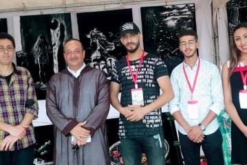 زيارة وزير الثقافة و الاتصال المغرب لمعرض الفنان التشكيلي العالمي عبد القادر بلبشير