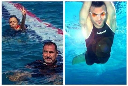 """لأول مرة فى العالم مصرى يستعد  لعبور المانش بزعانف """"المونو  """""""