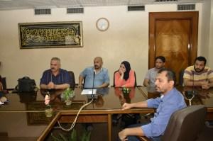 """رئيس الشركه القوميه للتوزيع الاستاذ"""" اسماعيل ابراهيم""""يعقد مؤتمر شبابي للعاملين بفروع الشركه"""