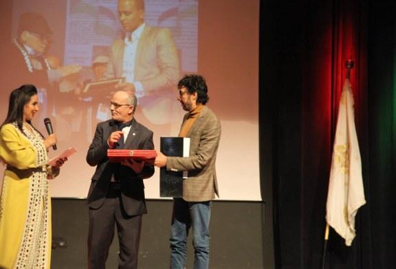 تازة المغربية ترتدي حلة سينمائية وتحتفل بفلسطين الصامدة وتتالق في سماء الابداع السينمائي