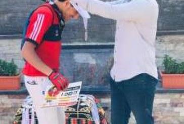 حصل حسن العربي علي المركز التاني في تحدي 80كيلو