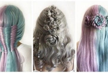 موضة شعر عروس عام 2020 وتصميمات فنية