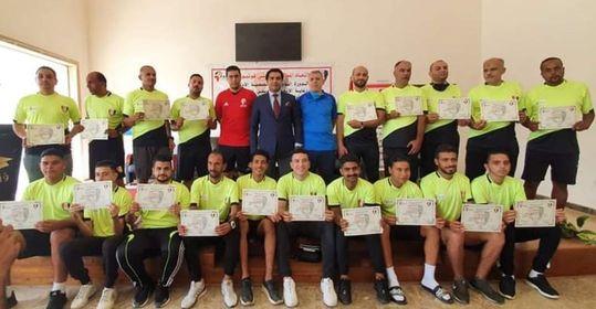(ختام ناجح للدورة التدريبية الدولية الأولي للميني فوتبول بقطاع القناة لتخريج أول جيل حكام ومدربين وإداريين)
