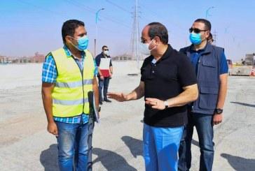 الرئيس السيسى يتفقدمواقع العمل في مشروعات تطوير شبكة الطرق