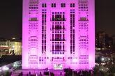 اضاءة مبنى المجلس العربي للطفولة والتنمية باللون الوردي دعما وتضامنا مع المحاربات ضد مرض سرطان الثدي